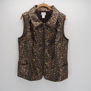 Zenergy by Chico's Collared Sleeveless Zip Up Vest